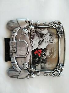 Just Married Picture Frame Made From Pewter