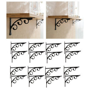 16Pcs Wall Mounted L Bracket Multifuntional Shelf Brackets Home Storage Holders