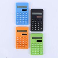 4Color Cartoon Dual Power Student Supplies 8 Digits Display Calculator