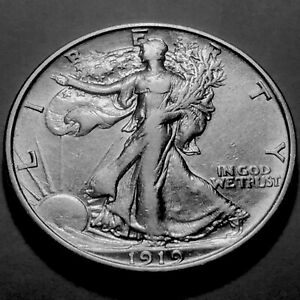 1919-P Walking Liberty Half  * Nice AU #2 *