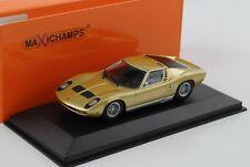 Lamborghini Miura gold 1966 1:43 Minichamps Maxichamps