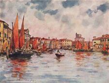 'Chioggia' by Mortimer Menpes. Venice 1916 old antique vintage print picture