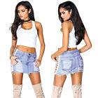 Women Denim Side Lace Up Hollow Out Fashion Pencil Short wear Casual Mini Skirt