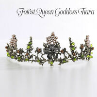 Forest Queen Goddess Fairy Wedding Party Cosplay Princes Headband Crown Tiara