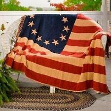 Betsy Ross Flag 4ft x 6ft Cotton Woven Throw Blanket Super Comfy