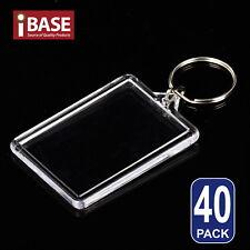 40x Keyrings Key ring Indicate Identity Acrylic Blank Photo Frame Name Card DIY