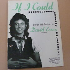 songsheet IF I COULD David Essex 1975