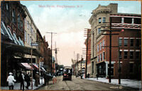 1909 Postcard: Main Street/Downtown - Poughkeepsie, New York NY