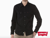 Levis Classic Casual Denim Sawtooth Western Shirt Color Black 0098
