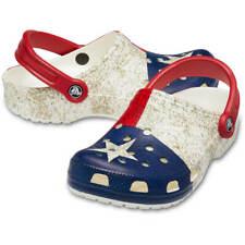 Crocs Texas Flag Design Classic Clogs Red White Blue Adults Sizes Men's Women's