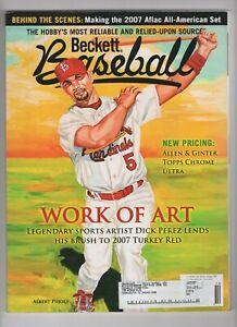 Beckett Baseball Magazine - Albert Pujols - October 2007 - Issue 271 - EX