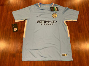 17-18 Nike Breathe Manchester City YOUTH Home Soccer Jersey Extra Large XL BOYS