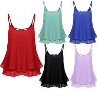 Women Ladies Summer Shirt Sleeveless Vest Tank Casual Tops Loose Blouse T-Shirt