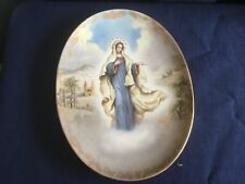 """Bradex Visions Of Our Lady """"Our Lady Of Medjugorje"""" oval plate"""
