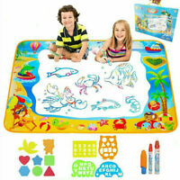 Toys for Girls 2-3 Year Old Joy-Jam Aqua Magic Doodle Mat for Painting Drawing 100*73cm Water Doodle Pad Set Christmas Birthday Gifts for 3-4 Year Old Boys with 3 Magic Pens UK-SHB Large02