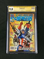 AVENGERS #26 CGC 9.8 SS SIGNED GEORGE PEREZ V3 2000 Marvel Captain America