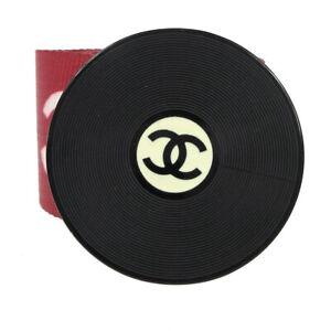 CHANEL CC Logos Record Motif Buckle Cassette Tape Belt Red Black #75/30 00688