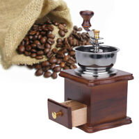 Wooden Vintage Grinder Manual Coffee Bean Grinding Retro Machine Hand Burr Mill