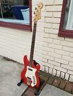 Vintage 1964-1965 Hagstrom Futurama Bass II Red~Ex Tom Keifer of Cinderella Fame for sale