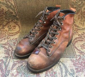 Red Wings Lineman 2907 Brown Leather Boots Limited Size USA 8.5 D