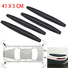 4x Auto Car Decor Strips Carbon Fiber Anti-rub Protector Bars Body Corner Guard