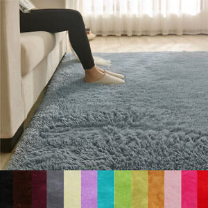 80x120cm Fluffy Rug Anti-Slip Shaggy Area Rugs Living Room Carpet Floor Mat DIY