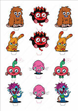 Novelty Moshi Monsters Edible Fairy Cake Cupcake Toppers Birthday Kids Popular