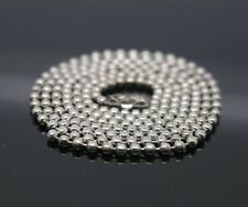 120pcs 19.5inch Chain 1.5 mm Shiny Silver Ball Chain Necklaces with connectors