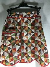 Homemade Apron Skirt With Belt Brown Mulit-color Super Cute Retro One Size
