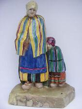Porzellanfigur Keramik Trachtenfigur porcelain figur Bäuerin Kind signiert Z.Ten