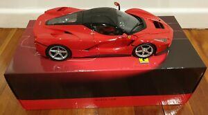 Bbr 1/18 ferrari Laferrari Corsa Red All Open Diecast BBR182221