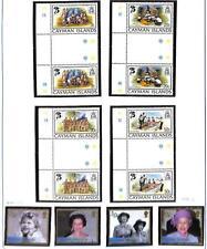 CAYMAN ISLANDS BOY SCOUTS SCOTT #490-93 GUTTER PAIRS & #844-47 STAMPS MNH 1982-
