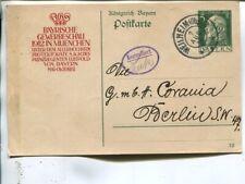 Germany Bavaria Gewerbeschau 5pf postal card 1912