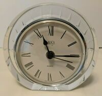 Mikasa Crystal Quartz Clock Seashell Pattern Made in Germany Works with Battery