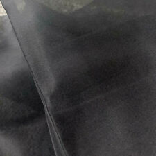 5Momme 100% Pure MULBERRY SILK Organza Fabric...By The Yard X 91cm Wide ...Black