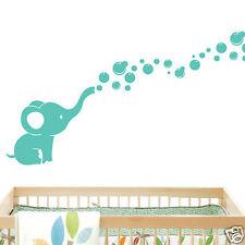 Elephant Bubbles Nursery Wall Decal Vinyl Wall Nursery Room Decor - Mint