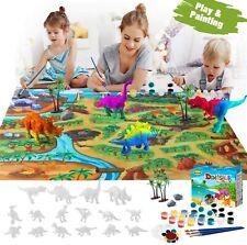 Dinosaur Painting Kits Dinosaur Play Mat, Kids Dinosaur Painting Toys for Boys