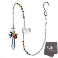 Hanging Rainbow Suncatcher Crystal Icicle Pendant Chakra Beads Window Home Decor