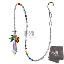 H&D Rainbow Handmade Suncatcher Crystal Prisms Pendulum Wedding Home Decor