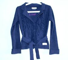 Odd Molly Cardigan With Strap Dark Blue Color Lambswool Nylon Size 0 / XS