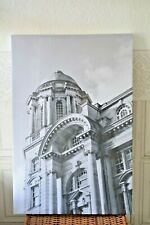 Liverpool City   Architecture CANVAS ART Picture in black and White