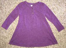 OLD Navy GIRLS 2T Purple LONG Sleeved KNIT Swing DRESS EUC!