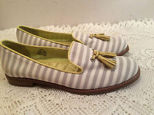 Sperry Top Sider Women Slip On Size 9 White-Gray Stripes