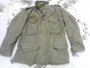 ALPHA INDUSTRIES USA US Army M65 M 65 COAT combat field jacket VIETNAM WAR large