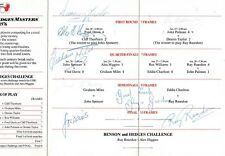 SNOOKER MASTERS 1976 (ALEX HIGGINS / JOE DAVIS / FRED DAVIS) SIGNED AUTOGRAPHS