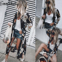 Women Chiffon Kimono Beach Cardigan Bikini Cover Up Wrap Beachwear Long dress