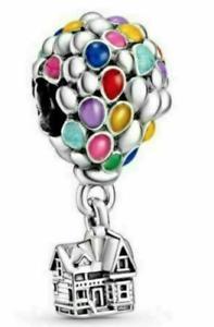 Pandora Disney Pixar Up House & Ballons  Dangle 925ALE Charm Bead