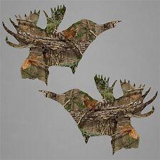 2 Moose Hunting Stickers Decal Camo Hunter Deer Buck Hunt Car Truck Window