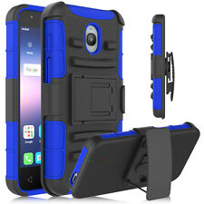 Hybrid Shockproof Rubber Clip Stand Back Case Cover For Alcatel Ideal/Dawn 5027B