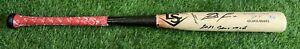 "Ronald Acuna Jr. Atlanta Braves Game Used Bat 2021 Signed ""Hank Aaron Sticker"""